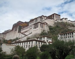 Potala Palace, Tibet, China, Stair overview
