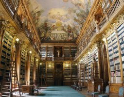 Strahov Monastery, Prague, Czech Republic, Library panorama