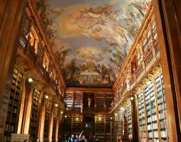 Strahov Monastery, Prague, Czech Republic, Library on visiting hours